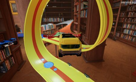 School Bus jumping in Hot Wheels Unleashed