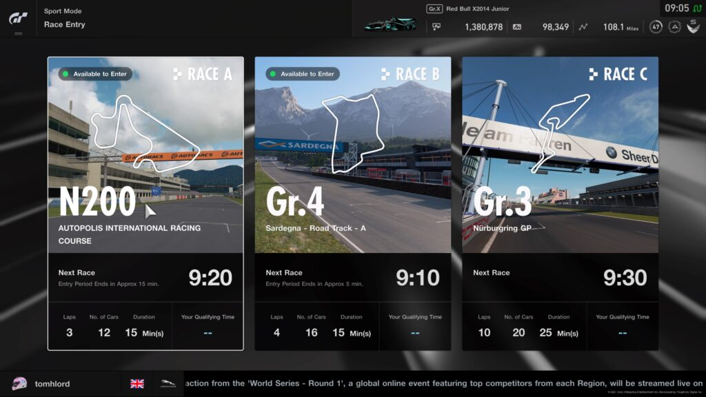 GT Sport Daily Races 7th June 2021