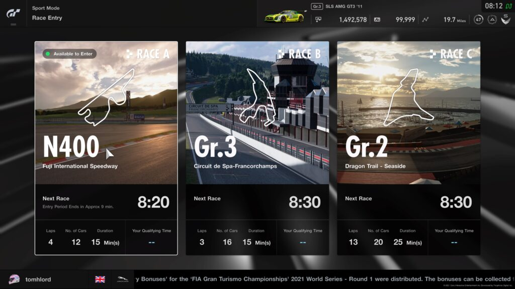GT Sport Daily Races 14th June 2021