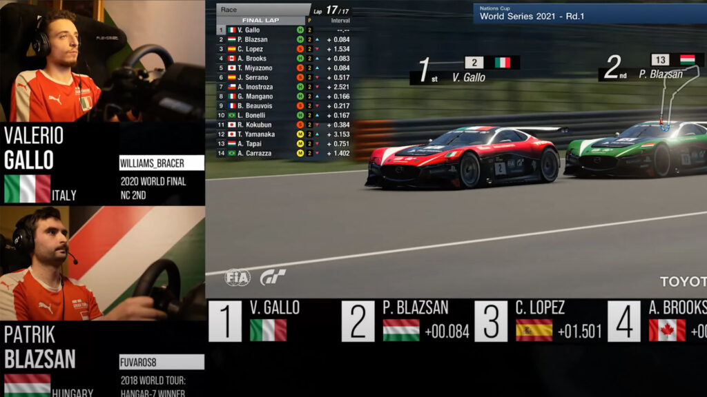 Italy wins Nations Series 2021 round 1 Monza GT Sport