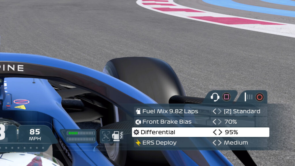 F1 2021 game differential
