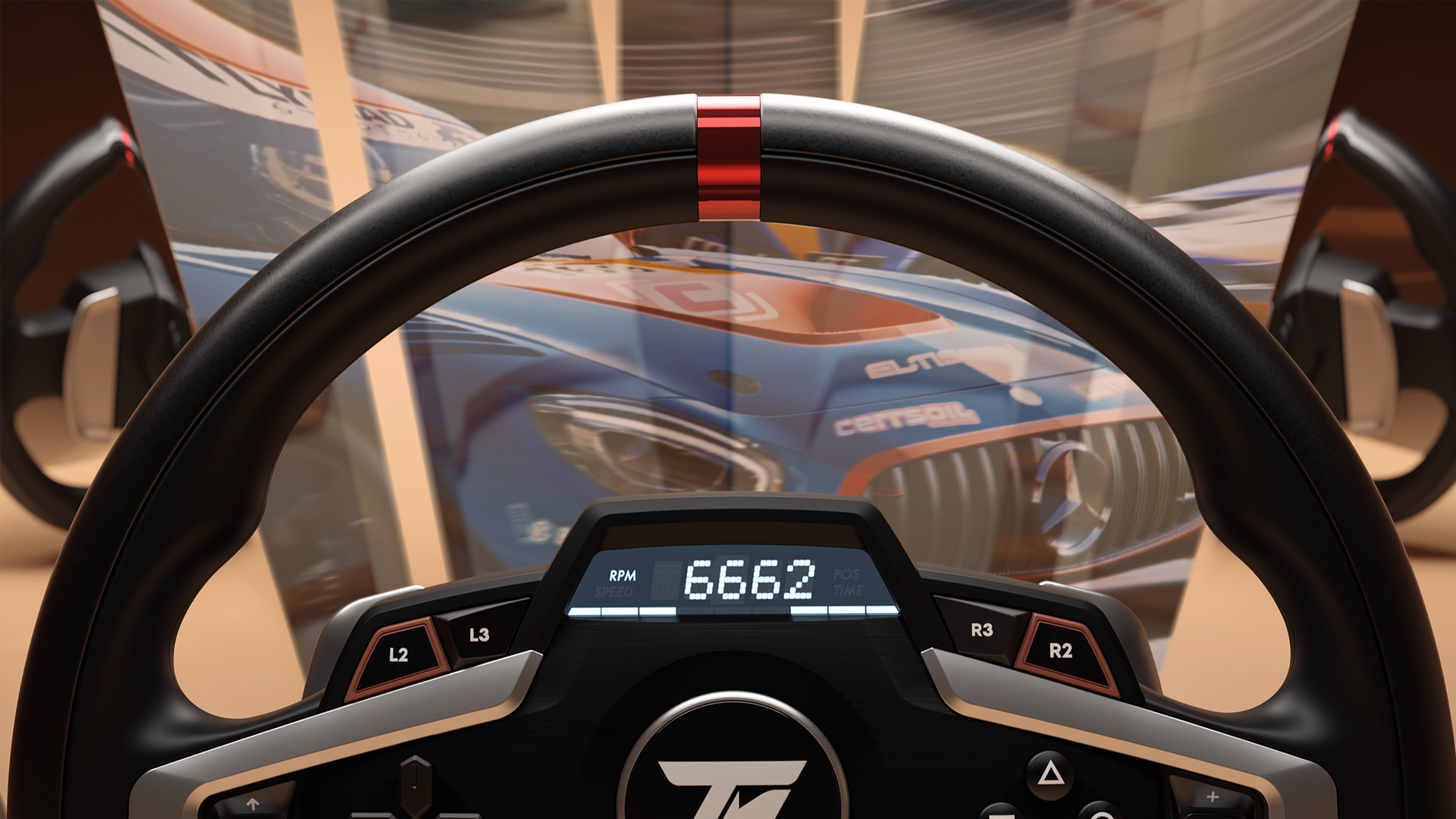 Thrustmaster T248 LCD display