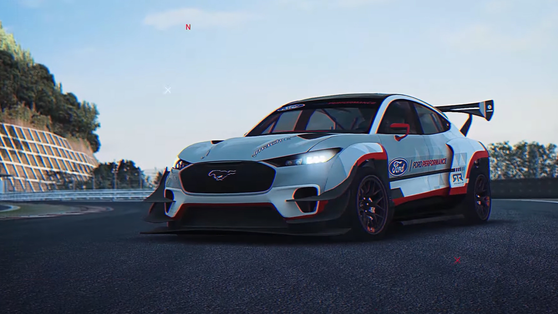 Drive Ford's electric drift monster, the Mustang Mach-E 1400, in RaceRoom