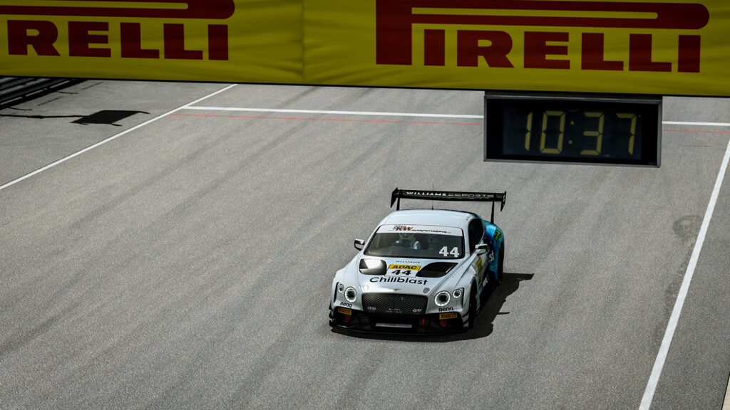 Jack Keithley Williams Esports wins ADAC GT Masters Sprint Race Sachsenring