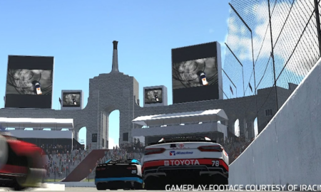 Future NASCAR track at LA Coliseum aided by iRacing pros